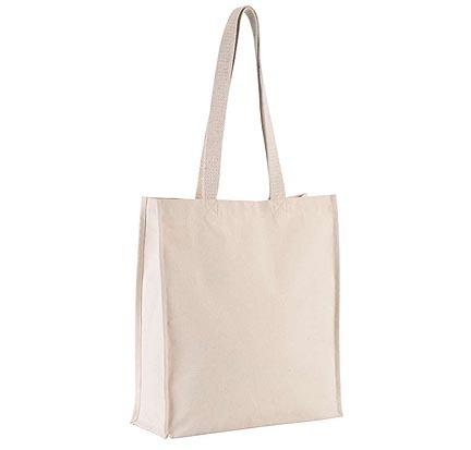 Plátěná taška s širokým dnem