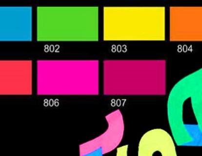 Neonové barvy (Fluorescent)