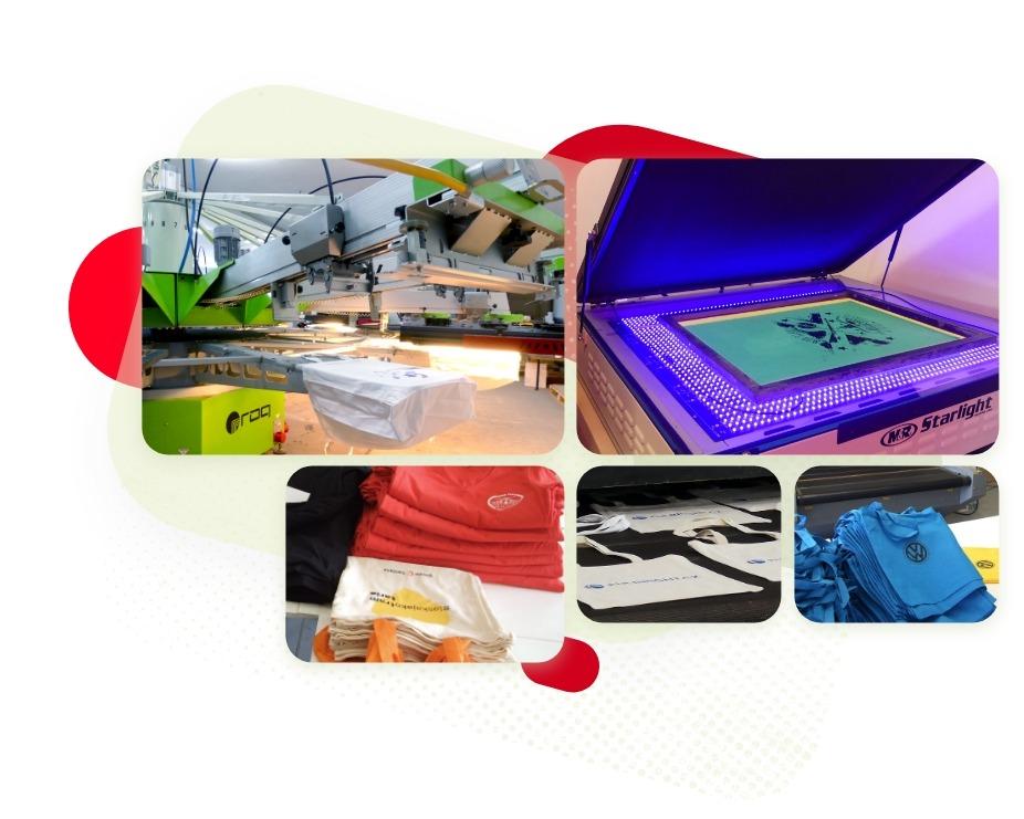 Vybavení naší tiskárny na textil